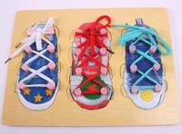 Wooden shoelace puzzle parent-child toys