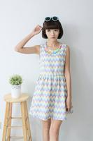 2014 summer princess jumpsuit tank dress slim sleeveless sweet pearl chain wave decoration