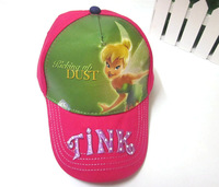 60pcs/lot Free Shipping! Cotton Tinker Bell Cap Hats Cartoon Kids Baseball Visor Sports Hat Children Caps For Girls SH00037