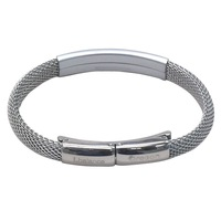 Medium-large gift negative ion health bracelet silver fashion sleeping gift