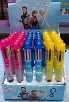 New factory price ballpoint pens Frozen 8 color ball pen Cartoon Ball point pen Wholesale office supplies pens 36 pcs/Box