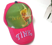80pcs/lot Free Shipping! Newest Casual Tinker Bell Cap Cartoon Kids Visor Sun Sports Hat Children Caps SH00037