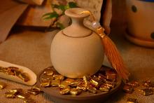 Healthy weight lose ripe pu er chao gao,100PCS ball tea puer tea cream, instant pressed ripe puer tea cream