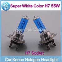 2pcs/lot xenon H7 hid kit parking car light source White Light Bulb Halogen Xenon 12V 55W Wholesale Free shipping