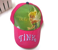 20pcs/lot Free Shipping! High Quality Tinker Bell Cap For Girls Cartoon Kids Hat Sports Children Caps SH00037