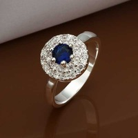 Wholesale 925 Silver Ring 925 Silver Fashion Jewelry,Insets Round Crystal Ring Best Service SMTR369