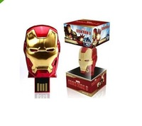 avenger iron man 3 real 2GB 4GB 8GB 16GB 32GB USB LED Flash Light Drive Disk pen drive usb stick with retail packing box