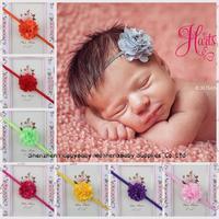 Mesh Flower Baby Girl Headbands Mini Flower Infant Baby Hair Band Children Kids Hair Accessory  12pcs Free Shipping TS-14076