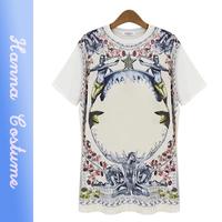 New summer t shirt 2014 fashion print women t-shirt Short sleeve loosen t shirts woman clothes