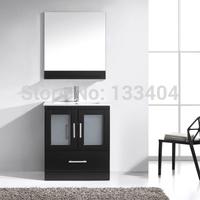 Black Cheap Solid Wood Bathroom Vanities X-070