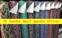 PU Leatehr Small Sparkle Zebra Glitter Fabric For Wallpaper Decor