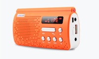 YUESONG T308 portable card speaker Mini radio MP3 player Dropping sound outside flashlight SOS alarm