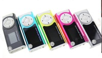 Mini Clip Digital MP3 Player With LCD Screen and Card Slot With Flashlight Function,10pcs/lot