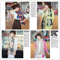 Chiffon Fashion   Scarf, Stole, Shawl, wrap, Tassel Scarves Brand Scarf Brand Wrap Long size Cape  women  girl,