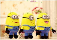 Hot sale! 3PCS 18cm Despicable Me Movie Plush Toy 3D Eyes Minions Stuffed Animals dolls High quality Anime Toys