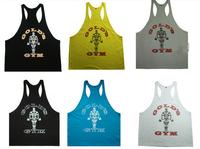 2015 new 100% cotton golds gym tank top men Sleeveless tops for boys bodybuilding clothing Sport undershirt  vest