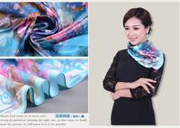 Fashion Brand Big Size 90x90cm Imetated Silk Square Scarf Women   Imitated Silk Satin Scarves Polyester Shawl Hijab 60 styles