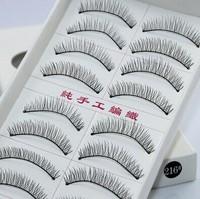 10 Pair/box  500pairs\lot Women Party Curly False Eyelashes Make Up Facial Cosmetic Black