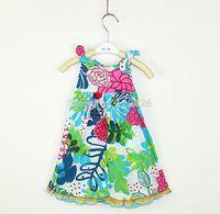 Girls Summer Dress New 2014 Children Sleeveless Dresses Fashion Girl Flower Dress for 2-8T High Quality Brand Kids Wear Retail