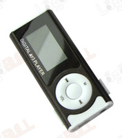 Mini Clip Digital MP3 Player With LCD Screen and Card Slot With Flashlight Function