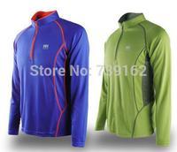 new 2014 brand men summer winterNaturehike zipper collar long-sleeved T-shirt, quick-drying, outdoor sports, riding a T-shirt