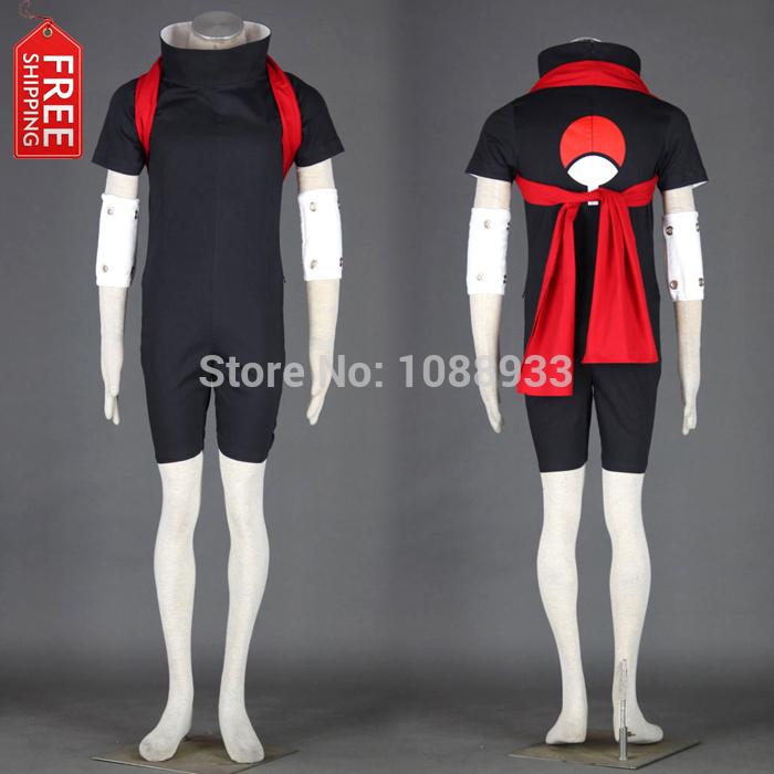 Free Shipping Hot Japanese Anime Naruto Naruto Cosplay Sasuke Uchiha Cosplay Costume Ninja Costume Assassin Costume Wholesale(China (Mainland))