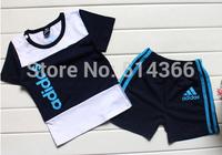 HOT summer boys/girls Short sleeve t-shirts+Pants Kids Clothes set Brand children clothing suit baby tracksuit 5pcs/lot