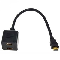 HDMI Male to Dual HDMI Twin Female Y Splitter Cable Adapter For HD TV