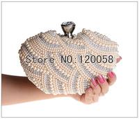 Perfume bottle clutch rhinestone bag pearl rhinestone beads bridal wedding evening bag small purse bag free shipping handbag