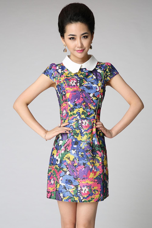 Elegant New 2014 Exquisite Women Office Wear Work Party Dress Long Knee Length
