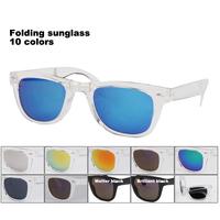Ttransparent frame coating lens Folding sunglasses  Many colors available gafas de sol Free Shipping 1028