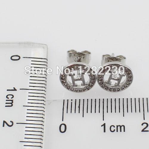 daily wear earrings praise like wave beautiful design wholesale jewelry  EBJE0034(China (Mainland))