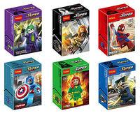 2014 New classic toys 6 mini-figures Superhero Captain America Series building blocks toy for kid