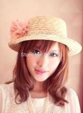 popular pink straw hat