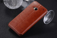 Delux Double dip Style Luxury Flip Case Cover For 32GB HTC ONE M7 802W 802D 802T Dual Sim Cards with Freen Screen film