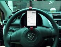 ZH0859 Multifunction Car phone holder steering wheel mobile Vehicle navigation holder Car GPS rest supplies Creative