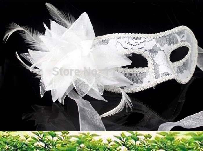 10 pçs/lote 2014 nova chegada hot sale moda artesanal partido Lace Wedding máscara Costume dança disfarce Venetian flor(China (Mainland))