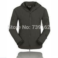 new 2014 brand men summer winter 511TAD shark skin soft shell jacket, outdoor jacket, waterproof and breathable plus velvet warm