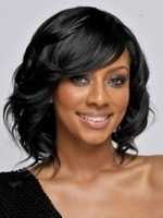 Oxette human lace glueless bob wig front lace & full lace sexy short wigs for women of color, Malaysian hair wavy with bangs
