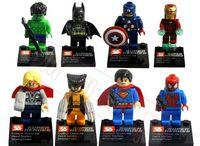 Super Heroes The Avengers 160pcs/lot Iron Man Hulk Batman Wolverine Thor Building Blocks Sets Minifigure Bricks Toys