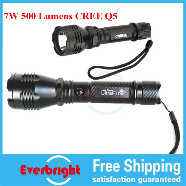Q5 7W 500LM C6 CREE Led K8 Flashlight Rechargeable Torch Aluminum alloy Flashlight Lamp + 1x18650 Battery Waterproof(China (Mainland))