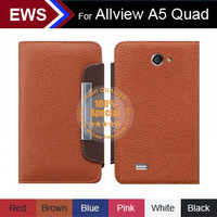 New 2014 items Wholesale Free Shipping Custom PU Leather  Holder 100% Special Case  +Free Gift For Allview A5 Quad