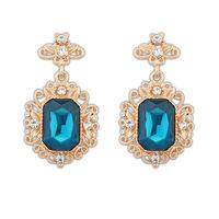 2014 Hot Sale Luxury Ear Stud High Fashion Big Acrylic Gem Crystal Flower Leaf Royal Style Earrings Min Order is $10 Can Mixed