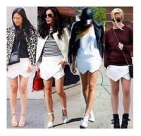 2014 Free Shipping Summer Women Lady Girls Shorts Fahion&Soft Ruffle Style Size S M L XL XXL Wholesale Mini Shorts