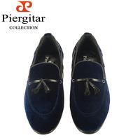 2014 Fasion blue velvet  loafers for men