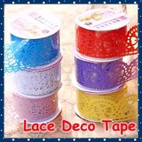 [FORREST SHOP] Kawaii Stationery DIY Lace Adhesive Tape / Scrapbooking Decoration Stickers / Washi Masking Tape UP-8810