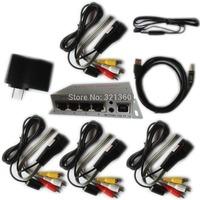 NB401 Wired AV TV Video Audio Transmitter Sender Receiver IR Infrared Repeater Extender Adapter with 1 Emitter 4 Receiver