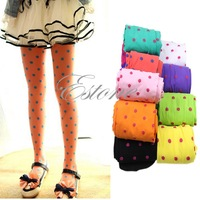 1PC Baby Girls Kids Candy Color Leggings Trousers Velvet Pantyhose Underpants -PY