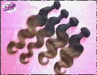 Brazilian Ombre Virgin Hair Body Wave TwoTone Ombre Human Hair Extensions 3pcs 4pcs 1B30# color FreeShipping