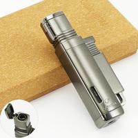 COHIBA Gloss Black Gun Style Jet Torch Flame Cigar Cigarette Lighter